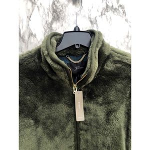 J.Crew NWT Plush Fleece Zip Up In green